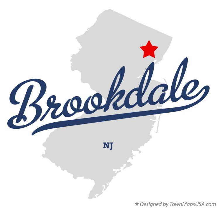 Map of Brookdale New Jersey NJ