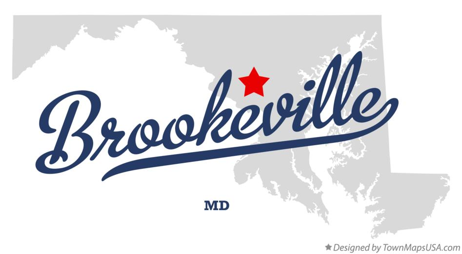 Map of Brookeville Maryland MD