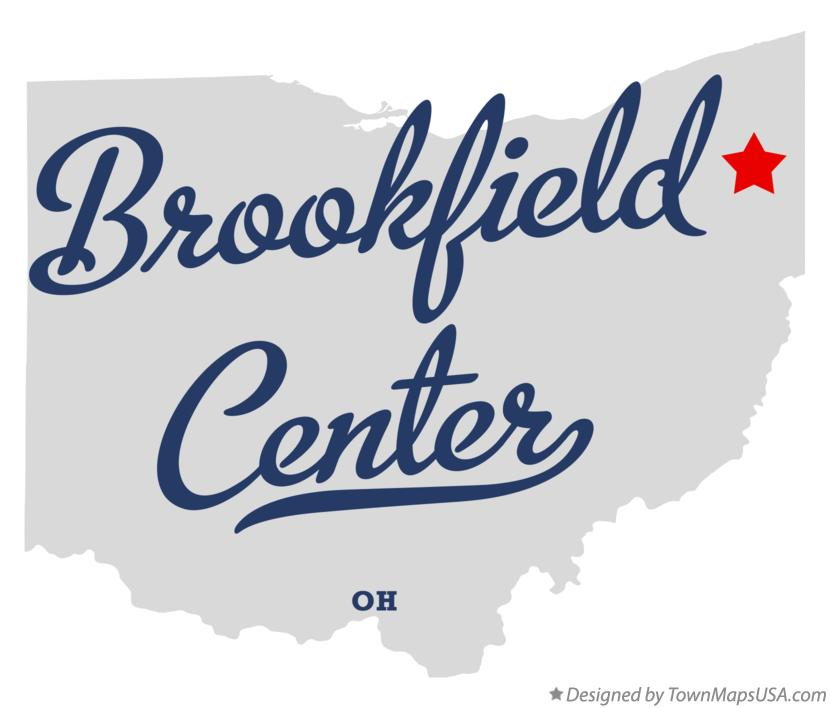 Map of Brookfield Center Ohio OH