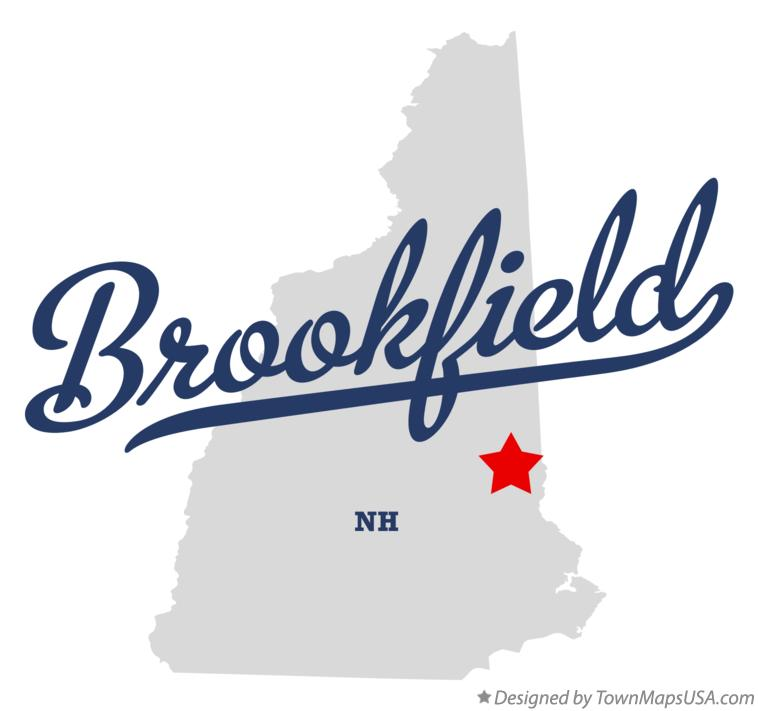 Map of Brookfield New Hampshire NH