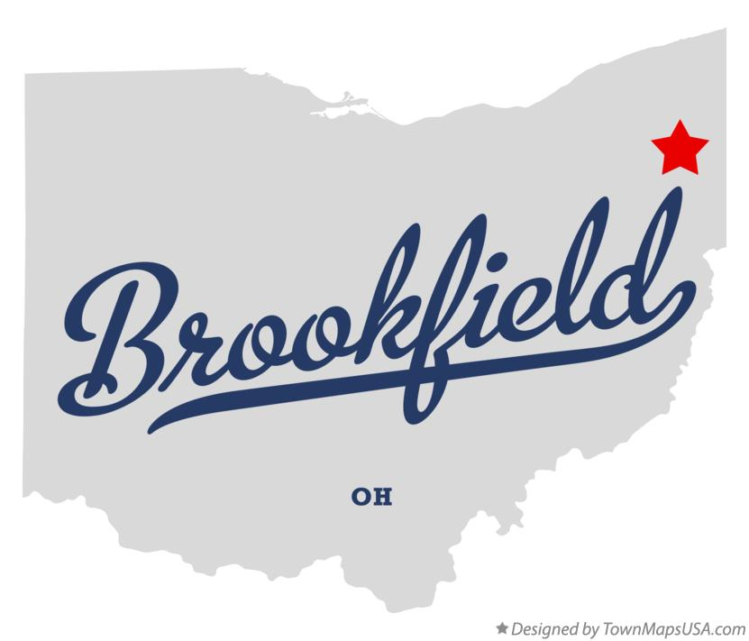 Map of Brookfield Ohio OH
