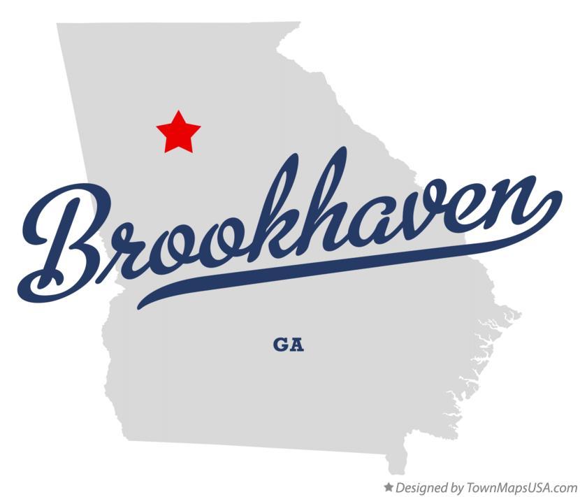 Map of Brookhaven, DeKalb County, GA, Georgia