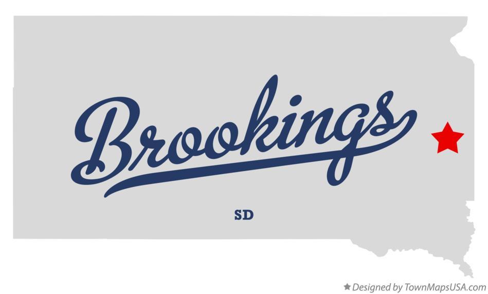 Map of Brookings SD South Dakota