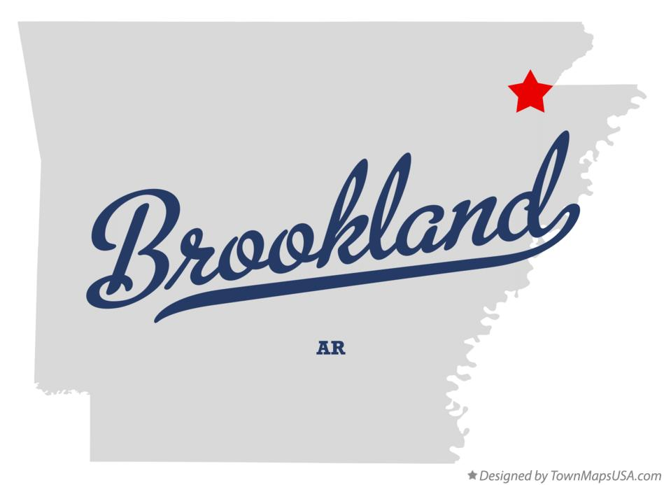 Map of Brookland Arkansas AR