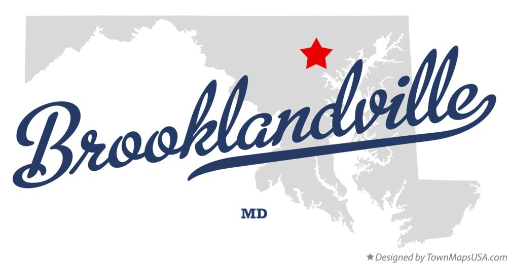 Map of Brooklandville Maryland MD