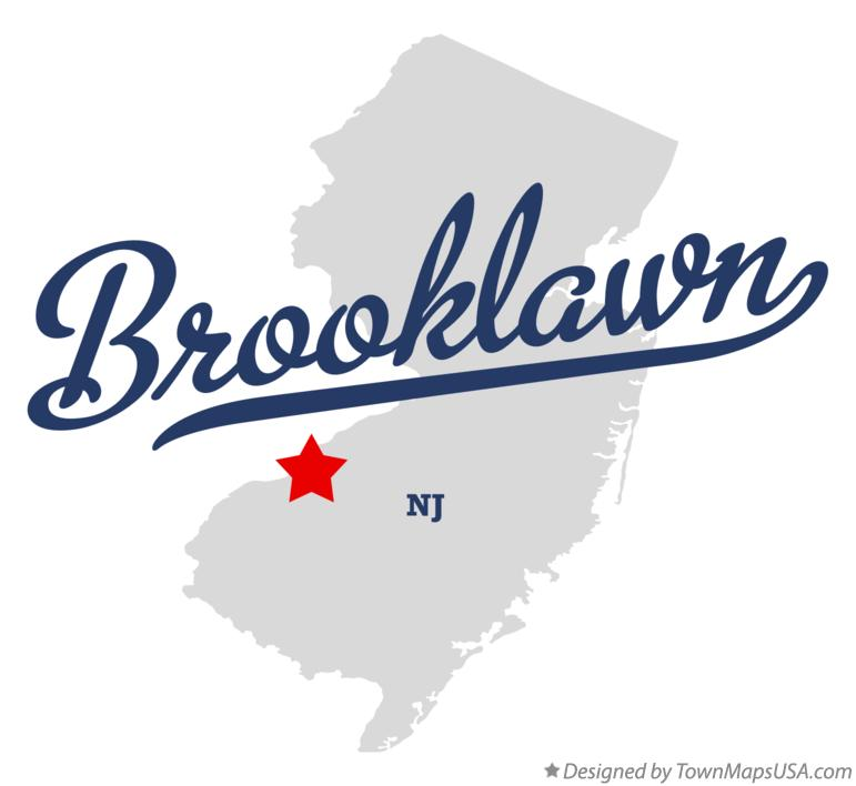 Map of Brooklawn New Jersey NJ