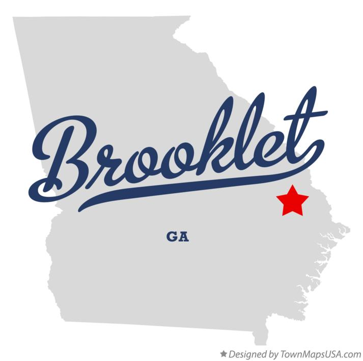 Map of Brooklet Georgia GA