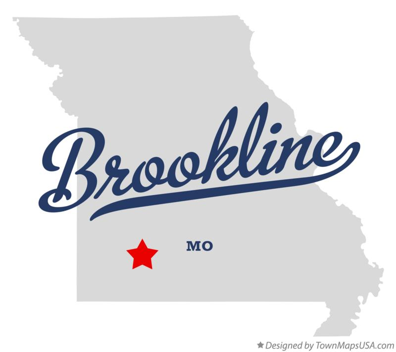 Map of Brookline Missouri MO