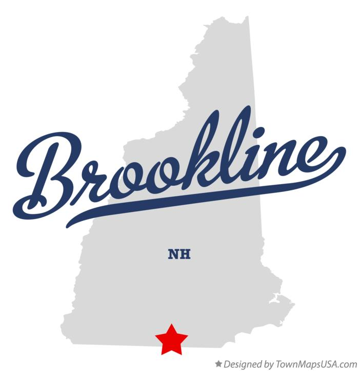 Map of Brookline New Hampshire NH