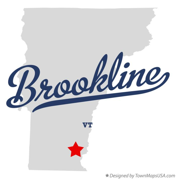 Map of Brookline Vermont VT