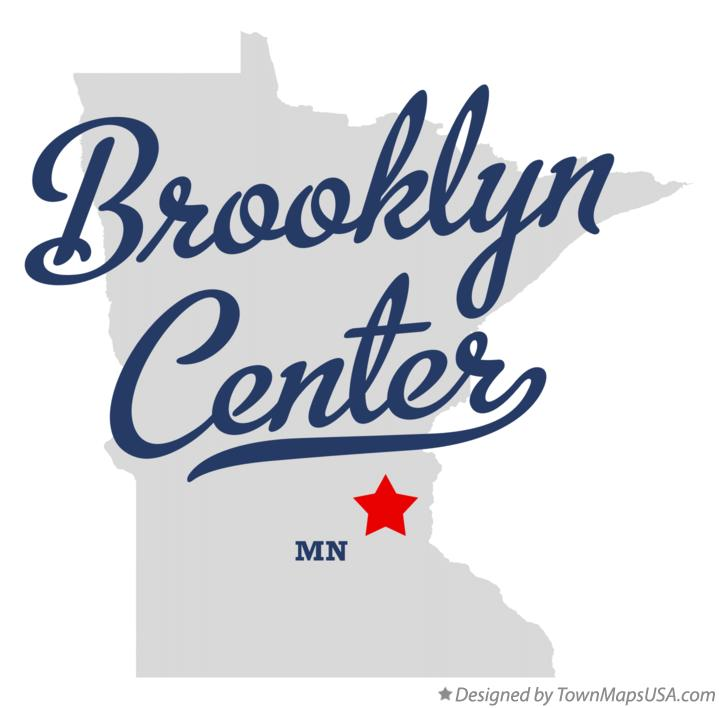 Map of Brooklyn Center Minnesota MN