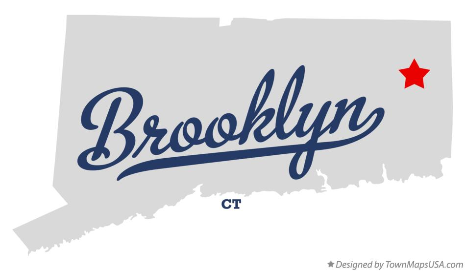 Map of Brooklyn Connecticut CT