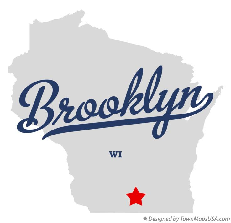 Map of Brooklyn Wisconsin WI