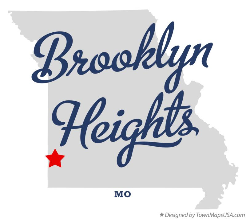Map of Brooklyn Heights Missouri MO
