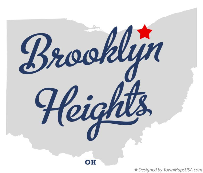 Map of Brooklyn Heights Ohio OH