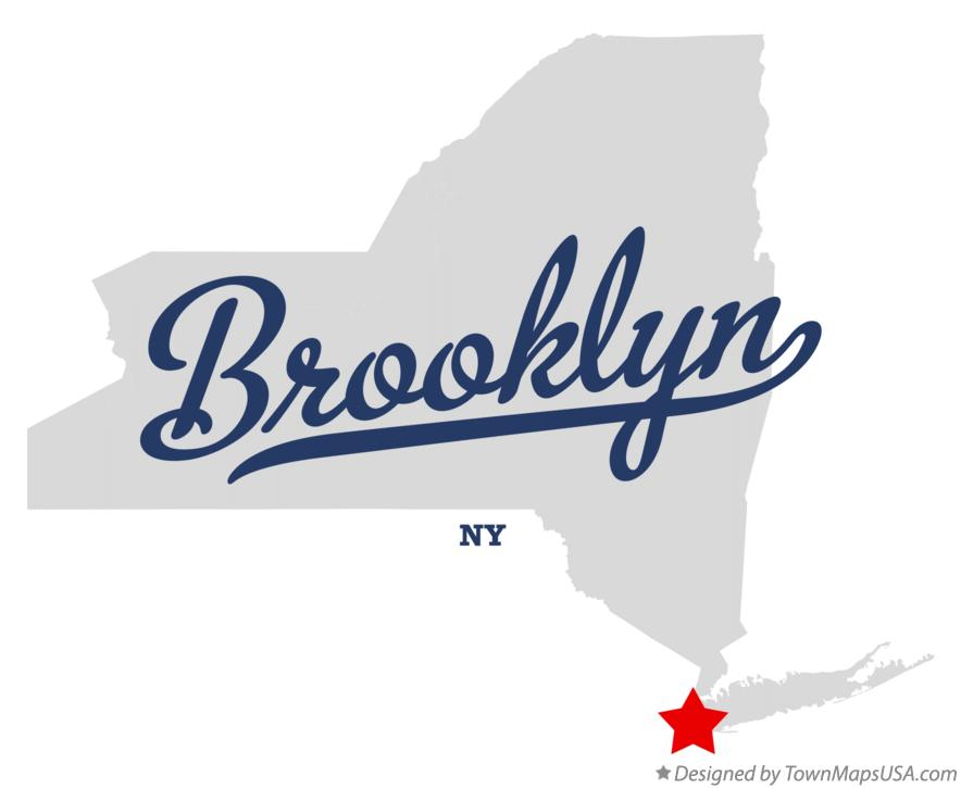 Map of Brooklyn New York NY
