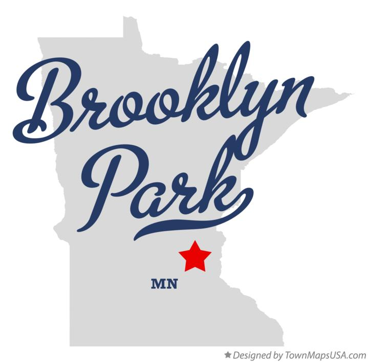 Map of Brooklyn Park Minnesota MN