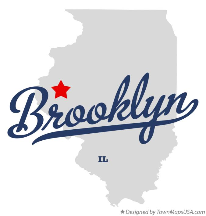 Map of Brooklyn Illinois IL