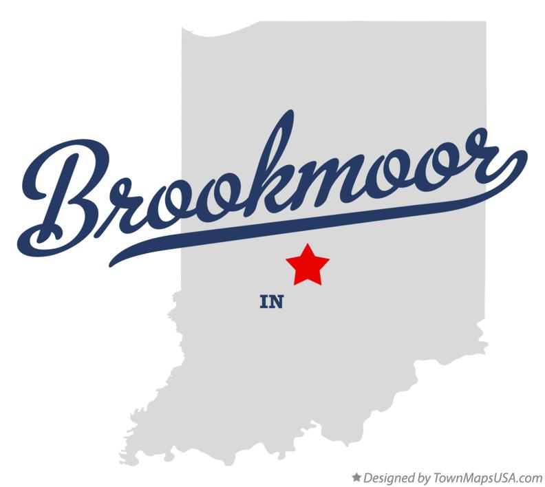 Map of Brookmoor Indiana IN