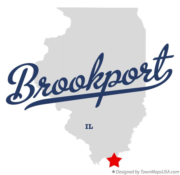 Map of Brookport Illinois IL