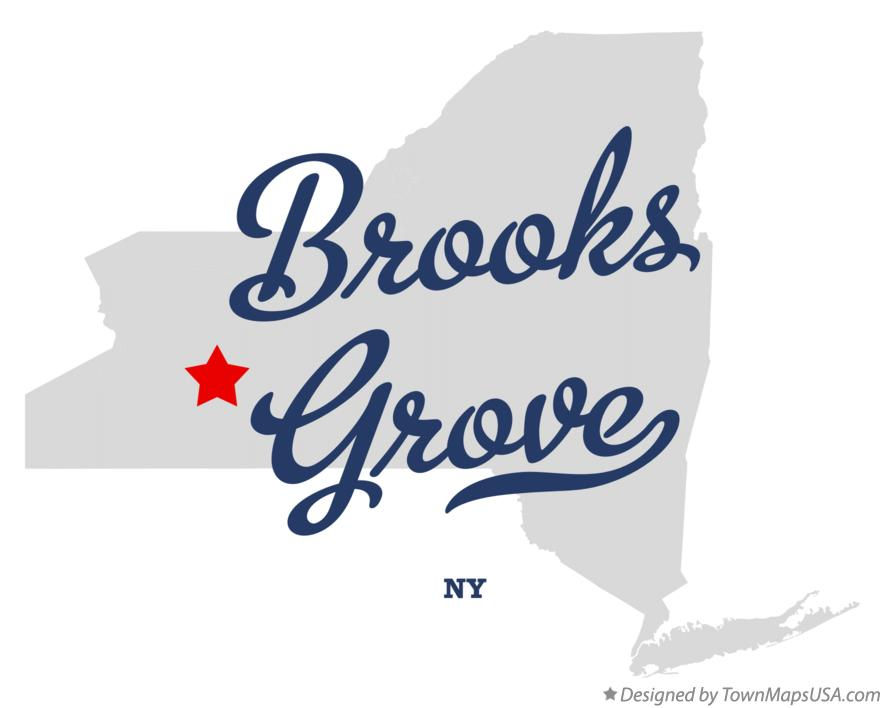 Map of Brooks Grove New York NY