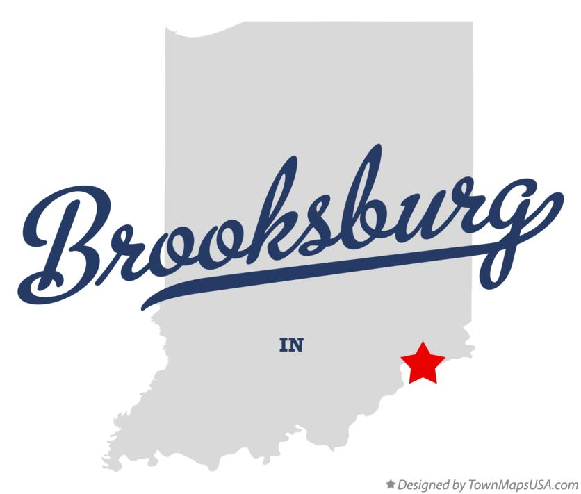 Map of Brooksburg Indiana IN