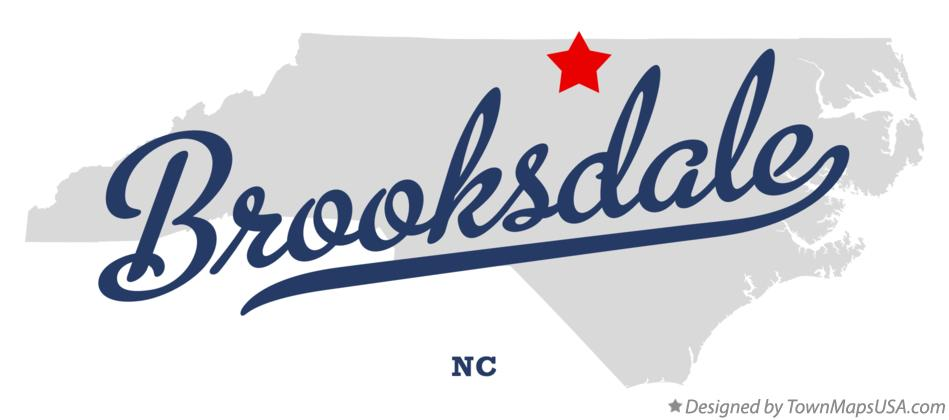 Map of Brooksdale North Carolina NC