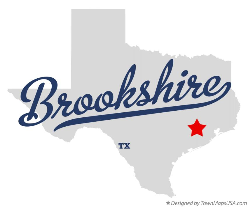 Map of Brookshire Texas TX