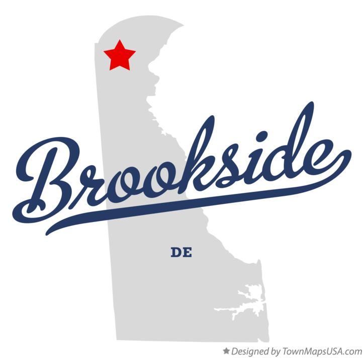Map of Brookside Delaware DE