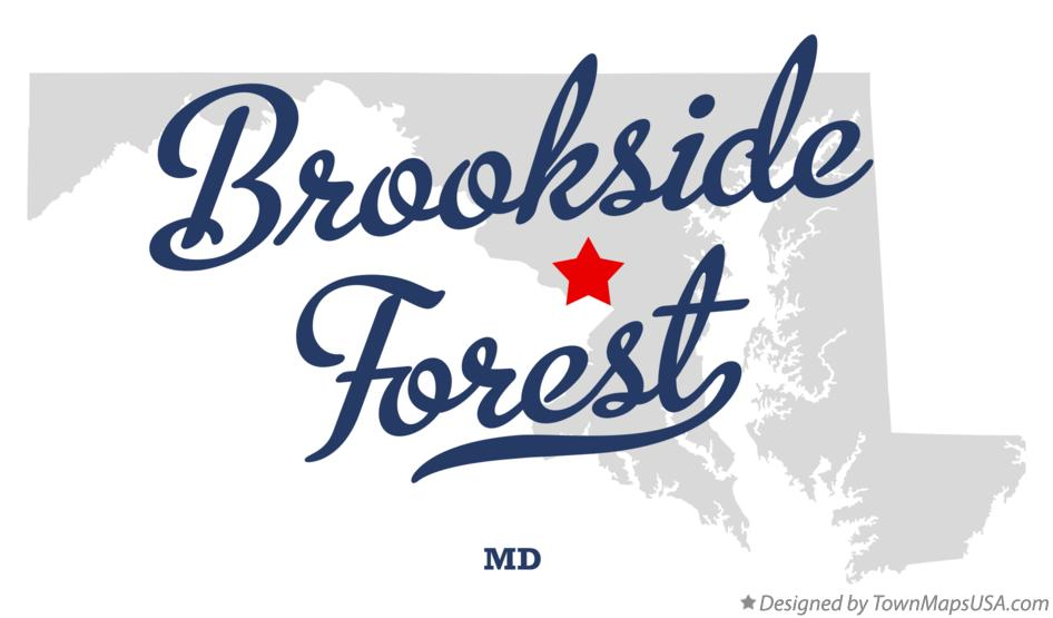 Map of Brookside Forest Maryland MD