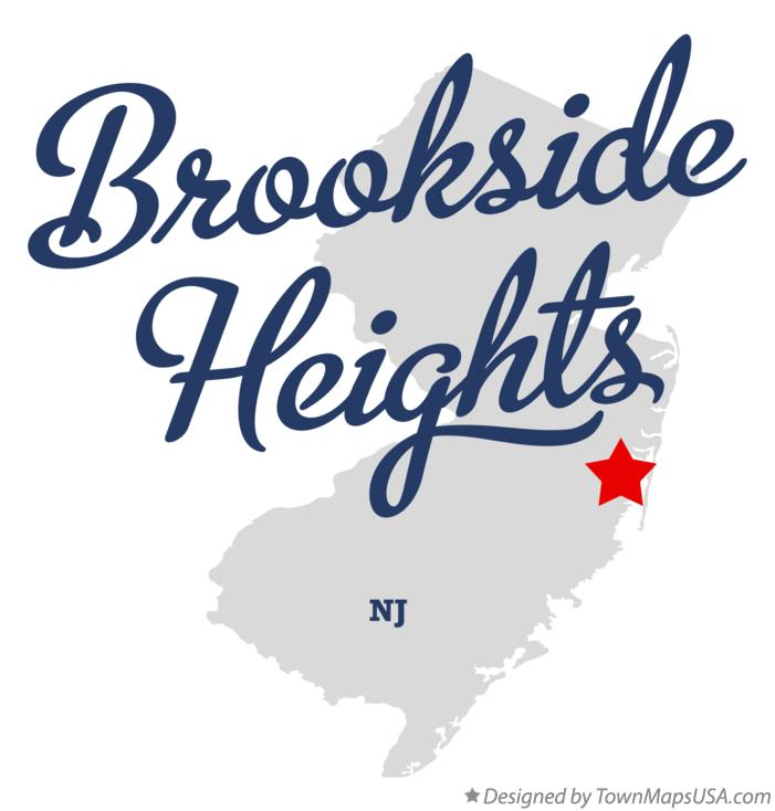Map of Brookside Heights New Jersey NJ