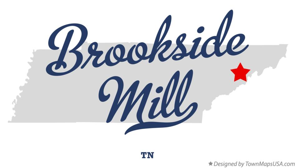 Map of Brookside Mill Tennessee TN