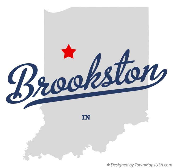 Map of Brookston Indiana IN