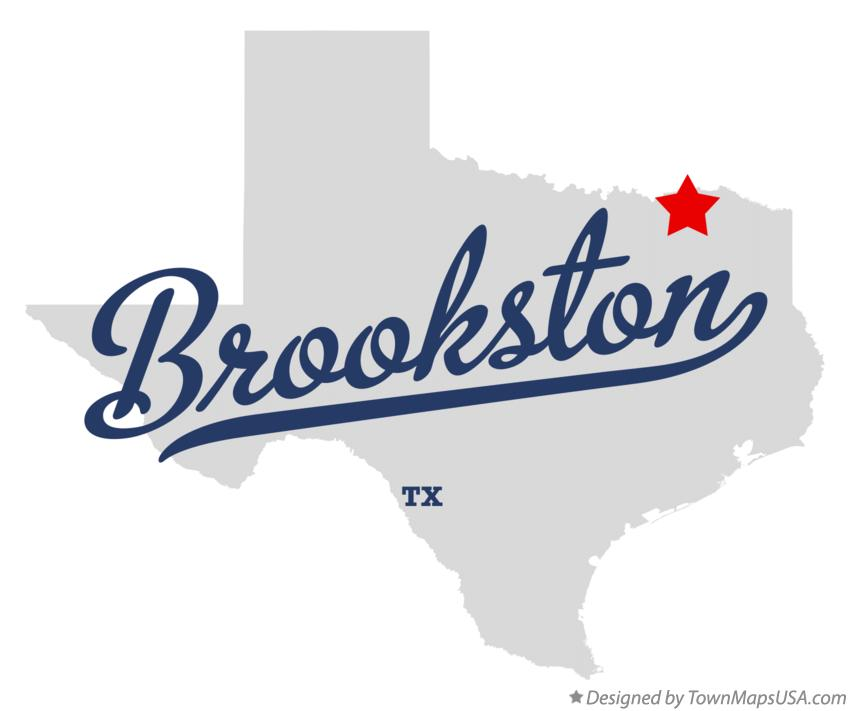 Map of Brookston Texas TX