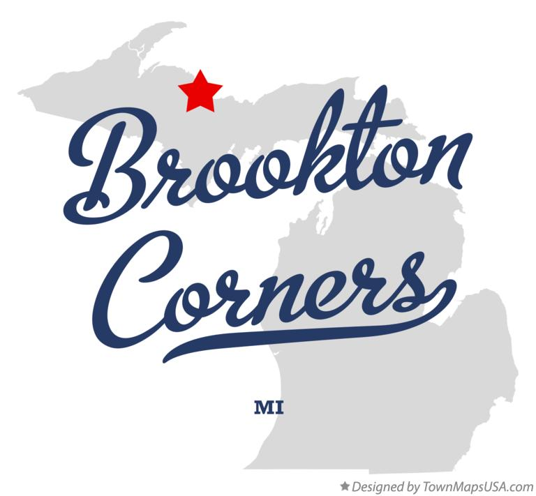 Map of Brookton Corners Michigan MI
