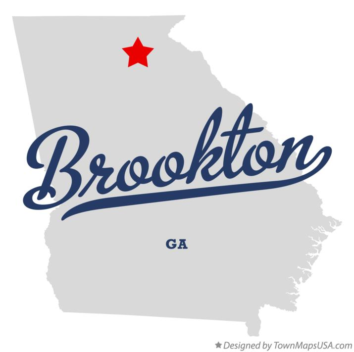 Map of Brookton Georgia GA