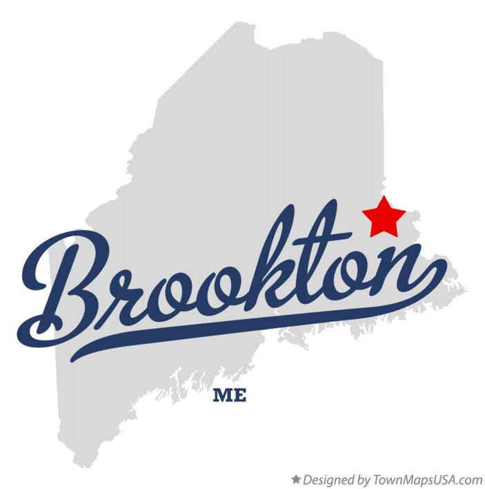Map of Brookton Maine ME