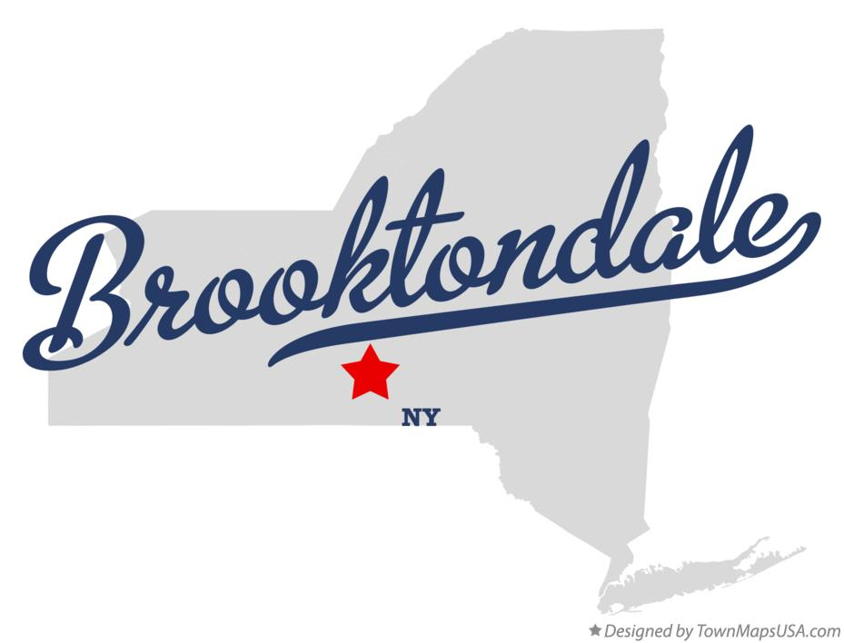 Map of Brooktondale New York NY