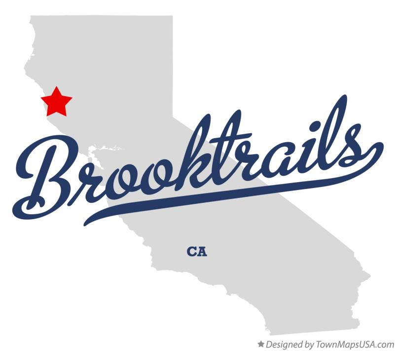 Map of Brooktrails California CA