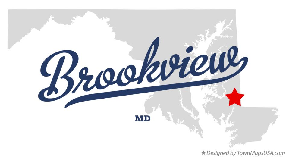 Map of Brookview Maryland MD
