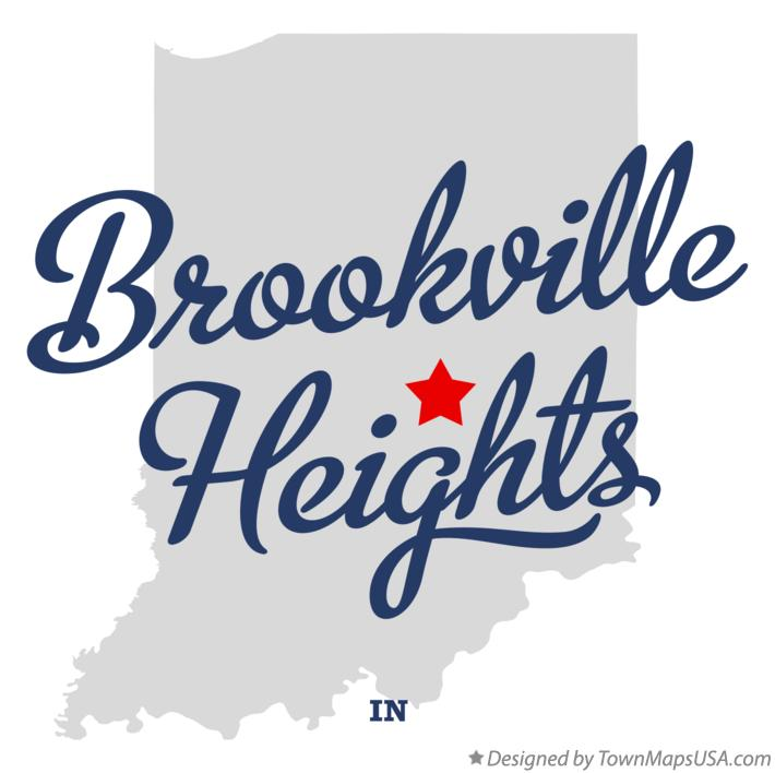 Map of Brookville Heights Indiana IN