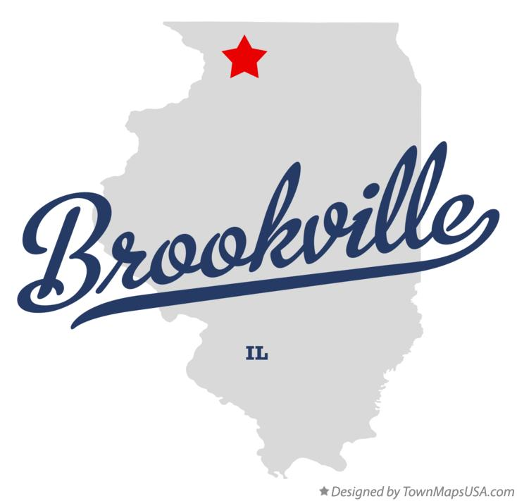 Map of Brookville Illinois IL
