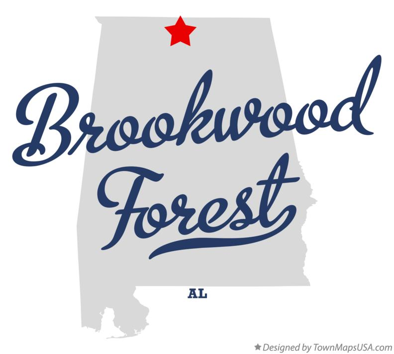 Map of Brookwood Forest Alabama AL