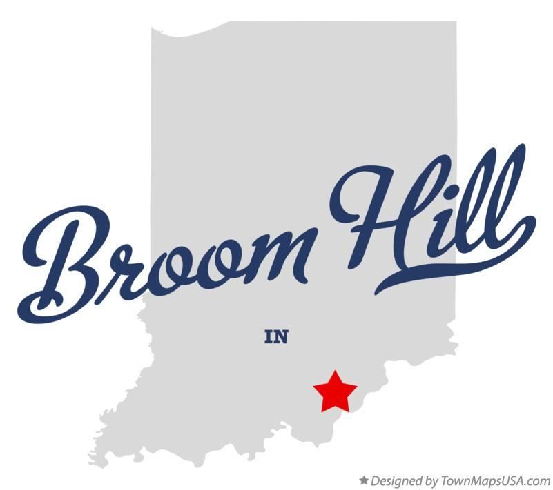 Map of Broom Hill Indiana IN