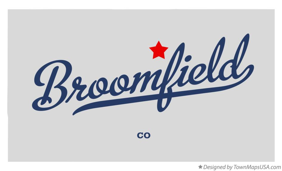Map of Broomfield, CO, Colorado