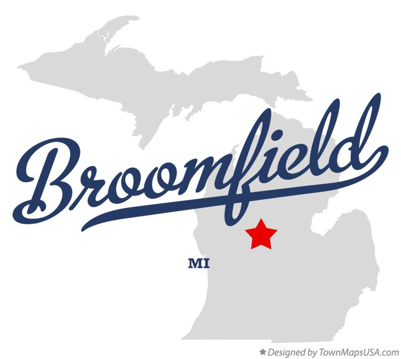 Map of Broomfield Michigan MI