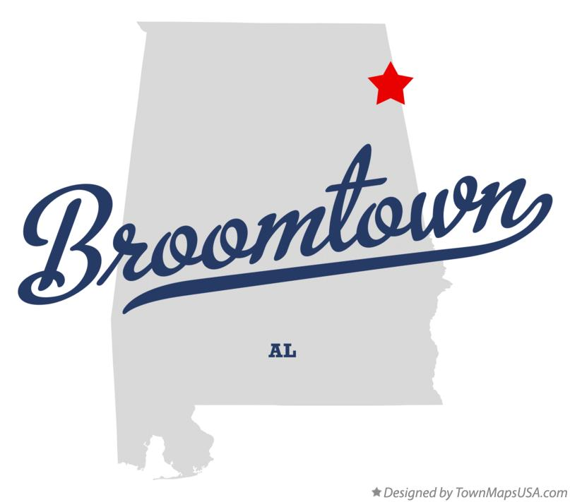 Map of Broomtown Alabama AL