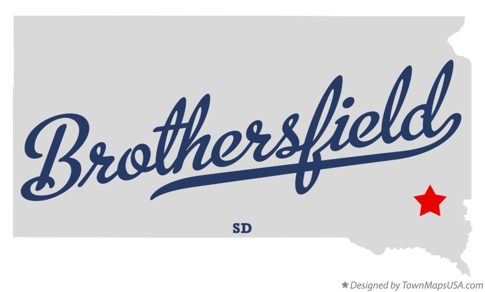 Map of Brothersfield South Dakota SD