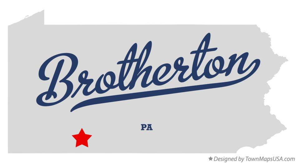 Map of Brotherton Pennsylvania PA