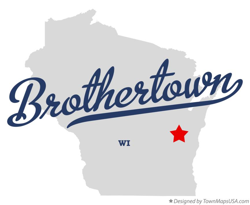Map of Brothertown Wisconsin WI